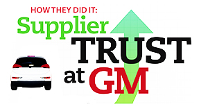How they did it supplier trust at general motors supply for Gm motors customer service